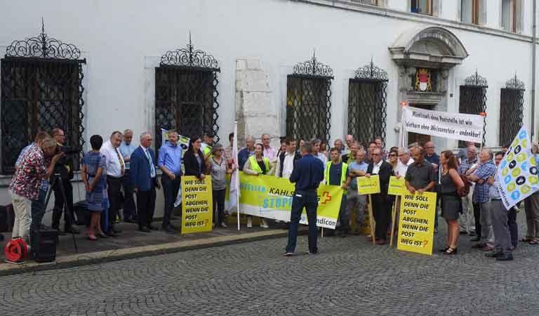 """""""Wir lassen uns nicht abstempeln"""": Poststellen-Kahlschlag inakzeptabel"""